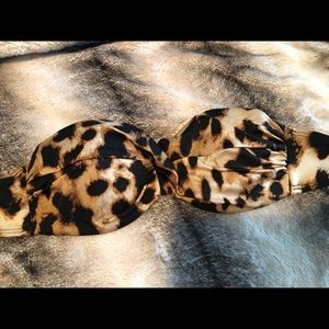Victoria's Secret cheetah print bandeau bikini top